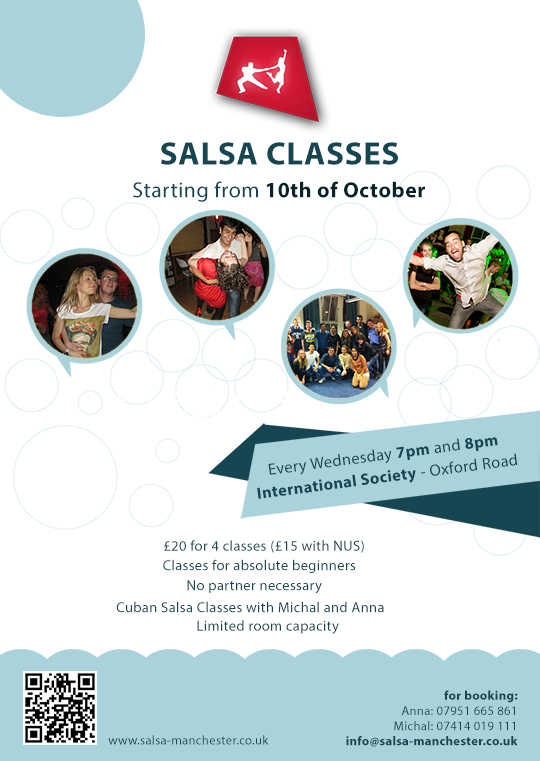 Salsa Classes at Manchester University - International Society, Oxford Road