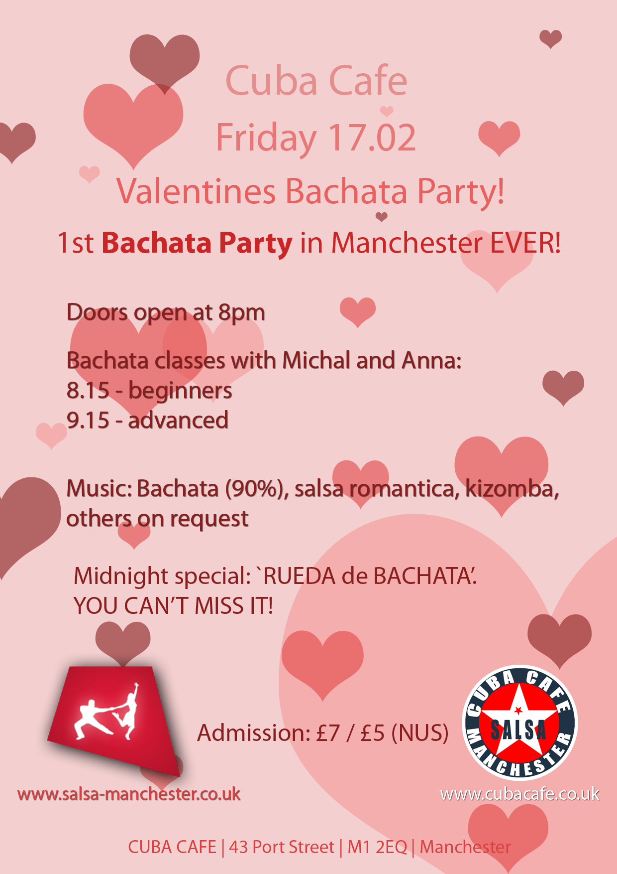Bachata Valentines Party - Manchester